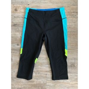 victoria sport neon cropped leggings